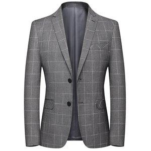 wsryxxsc Casual Marque Hommes Blazers Printemps Automne Nouveau costume de couleur unie affaires Plaid hommes Manteaux Homme confortables Blazers sauvages