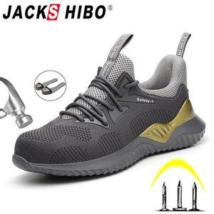 JACKSHIBO Sécurité au travail Chaussures bottes pour hommes en acier Toe Cap Bottes Anti-Smashing de protection de sécurité de construction Chaussures de sport travail