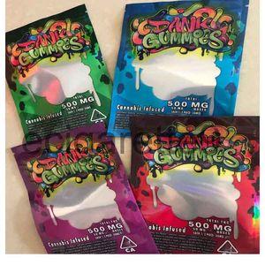 500MG Dank Gummies Bag Edibles bags Packaging Worms Edibles Bears Cubes Gummy bags Wholesale Dank Gummies Zipper Bag Dry Herb