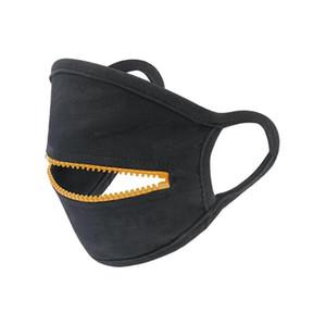 Fermuar Tasarım Yüz Yıkanabilir Yeniden kullanılabilir Bisiklet Koruyucu Yetişkin toz geçirmez Nefes Spor Maske Tasarımcı Maskeler CCA12394 60pcs Maskesi