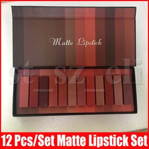 Nuova bellezza Lip Makeup Set rossetto opaco 12pcs / set Sexy Natural Lip Stick Kit 12 colori
