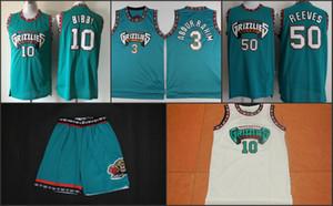 Retro Mike Bibby MemphisGrizzliesMänner Basketball Jerseys genähtes Vancouver 10Mike Bibby RetroNBA Mesh-Basketball Jersey