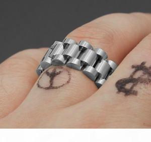 Президент Кольцо из нержавеющей стали Golden Ring Ссылка Hiphop Мужского ремешка Стиль звезда Корона с логотипом Star Ring