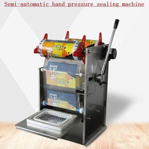 высокое качество Ручной пресс Square Box упаковочная машина из нержавеющей стали Электрический Полуавтоматическая Fast Food Ready Tray запайки