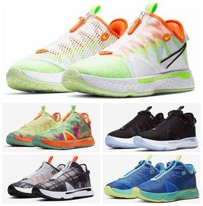 2020 Пол Джордж PG 4 IV PG 4 Gatorade Белый Mens Basketball обувь синий зеленый PG4 Спортивные кроссовки Кроссовки Открытый Zapatos де Chaussures
