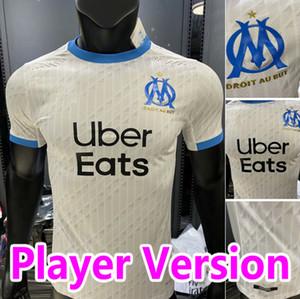 Version du joueur Maillot om Jersey de football de Marseille 2020 2021 Milik Maillot de Foot Benedetto Payet 20 21 THAUVIN Chemises Homme Enfants