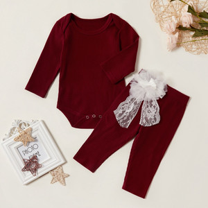 Newborn Toddler Baby Girls Long Sleeve Top+ Elastic Waist Pants Outfits casual Autumn Clothes