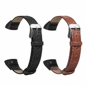 Yedek Giyim Dayanıklı Deri Bilek İzle Band Kayışı İçin Huawei Honor Bant 04/05 bilezik Aksesuarları Kahverengi, Siyah ixK3 #