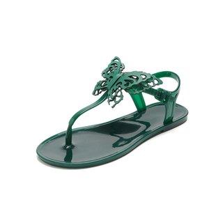 Women's shoes 2020 summer stereoscopic butterfly flat heel sandals for women with flat bottom flip-toe beach slippers for women