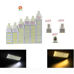 SMD 5050 Plug Horizontal luces E27 G24 G23 llevó el bulbo de maíz 180 degeree AC85-265V 5W 7W 9W 11W 13W llevó la iluminación de la lámpara de interior