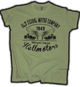 2020 verano caliente de la manera del motorista camisa Bicicletas Oldschool Empresa Chopper motocicleta Rocker 1949 oliv Motorrad Camiseta