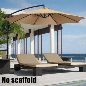 2M Parasol Patio Sunshade Umbrella Cover for Courtyard Swimming Pool Beach pergola Waterproof Outdoor Garden Canopy Sun Shelter