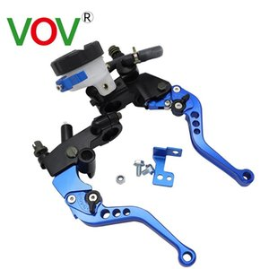 "VOV Universal 7 8 ""22mm Motorcycle Clutch Brake Master Cylinder Oil Storage Tank Lever Kit Fuel Tank Set"