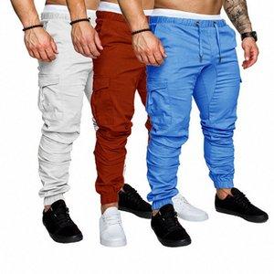 HEFLASHOR 13 colores nuevos hombres Joggers cadera pantalones de moda de los guardapolvos bolsillos de los pantalones casuales para hombre del camuflaje pantalón kJs5 #