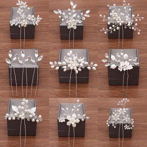 Wedding Hairpins Bridal Hair Accessories Pearl Rhinestone Flower Bride Hair Pins Bridesmaid Hairdressing Women Jewelry Clip