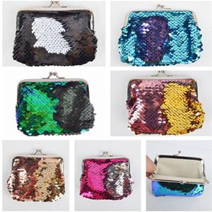 Mermaid Sequins Coin Purse Magic Sequin Glitter Clutch Bag Mini Wallets Handbag Fashion Girls Coin Pocket Little Makeup Bags SALE