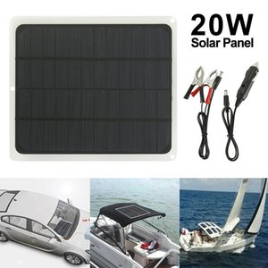 20W 12V Solar Mat Silicon Blanket Solar Panel Kit Camping Charger Power NEW