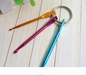 3PCS Set 3MM 4MM 5MM Keychain Hooks DIY Multicolour Crafts Knitting Needles Mini Aluminum Crochet Hook 100Set
