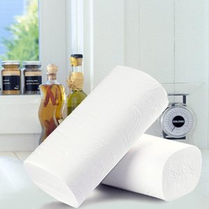 Big Sale!!White Tissuse Paper Toilet Clean Touch Toilet Paper Family Rolls Toilet Paper For Kitchen Travel Outdoor Activies The Spot A08