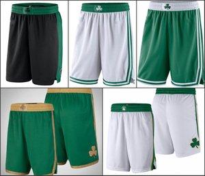 BostonCelticsErkekler Kelly Yeşil Siyah Beyaz YeşilNBA swingman basketbol Şort
