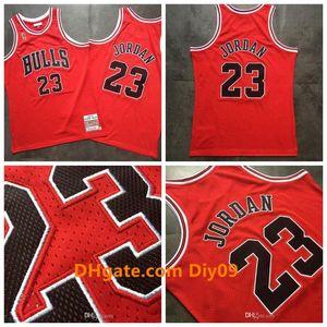 2020 New Mens BasketballChicagoBulls Michael JdNba Mitchell Ness 1996-1997 final Victory Red Swingman Jersey Mj Jm