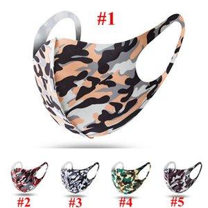Vente chaude Entretien ménager camouflage masque anti-poussière pour hommes et femmes réutilisables Designer Masque Lavable 5 styles Masque Designer Avec DHL Livraison
