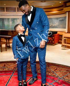Popular Double-Breasted Groomsmen Shawl Lapel Groom Tuxedos Men Suits Wedding Prom Best Man Blazer ( Jacket+Pantst+Tie) Y110