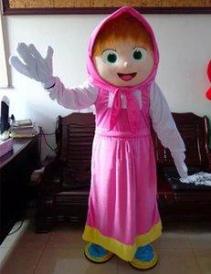 Qualitäts-Mädchen-Maskottchen-Bär Ursa Grizzly Maskottchen-Kostüm-Cartoon-Charakter Mascotte Kostüme Halloween-Abendkleid