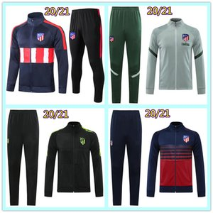 20 21 Tuta da calcio Atletico Madrid da uomo 2020 2021 Tuta da allenamento per giacca da calcio Madrid
