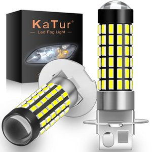 2pcs 1200LM H1 H3 LED Fog Light Bulbs Super bright 78SMD 3014 chips Running Lights Turning Parking Fog Lights 6500K White 12V