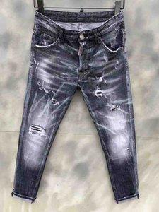 Wholesale- 2020 Aakar shan Men's Jeans Summer Ripped Skinny Biker Jeans Destroyed Frayed Slim Fit Denim Pants Pencil Pants Regular Fashion