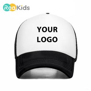 Reakids Logo Güneş Oğlu kızı Kişisel Beyzbol şapkası Hediye Çocuk Bebek Çocuk Adı Özel Trucker Hat CT2020