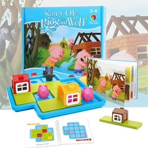Child Smart Hide&Seek Board Games Three Little Piggies 48 Challenge with Solution Games IQ Training Toys For Children Gifts CX200711