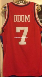 Cheap wholesale Lamar Odom nk Rewind Sewn Men #7 Jersey T-shirt vest Stitched Basketball jerseys Ncaa