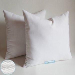 50pcs alle Größe 8 Oz Natural White Semi-Weiß-Farben-Baumwollleinenkissenbezug Blank Kissenbezug für Stickerei / Screen Print / Malen