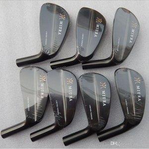 MIURA LIMITED FORGE Irons Set Heads # 4-9P 7pcs / ensembles de clubs de golf de fer noir Marque Hommes Femmes (seule la tête, sans arbre, poignée, headcover)