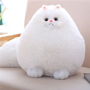 30cm Fun Plush Fluffy Cats Persian Cat Toys Pembroke Pillow Soft Stuffed Animal Peluches Dolls Baby Kids Toys Gifts MX200716