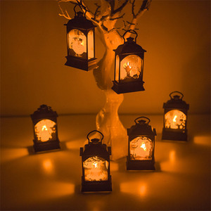 Lampe Bougie Halloween Halloween Lampe vent transparent Bar Party Decoration Bar Halloween Accueil Atmosphère Décoration Props