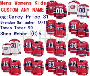 Montreal Canadiens Jersey Carey Precio Jersey Brendan Gallagher Tomas Tatar Shea Weber Hombres Red White Hockey Jerseys Custom Steinsted