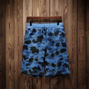 Designer Sommer-Kurzschluss-Mode-Männer Strand-Hosen mit Shark Shorts Camouflage Modedesigner Hosen Letters Knielänge loser Hose M-XXL