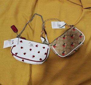 2020 marca de moda C mahjong morango morango com saco axila um ombro saco cadeia portátil das mulheres