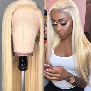 Blonde Lace Front Human Hair Wigs Straight Colored 613 Human Hair Wigs For Black Women Inch Pre plucked Lace Front Wig full