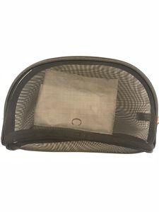 NEW C моду Black Mesh молнии сумки элегантного известных красот косметического случай классического макияж мешок устроителя горячего туалетных чехол VIP подарок