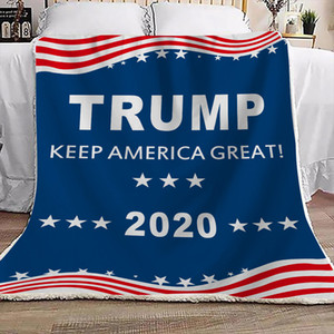 Double Thick Blanket Trump 2020 KEEP AMERICA GREAT Printed Blanket square Boutique blanket 130*150cm 2020 President election D73003