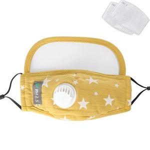 Star Kids Printed Masques 2 en 1 Masque intégral Visage avec Breath Valve enfants en plein air Masques de protection avec 2pcs Filtre Pad CCA12396