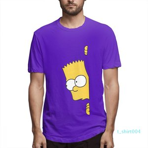 Cotone I Simpson moda progettista delle camice delle donne Camicie maniche corte Mens Shirt Il Simpsons stampato magliette causale c3703t04