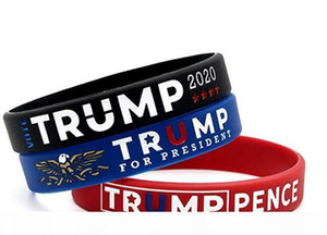 K Donald Trump Wristbands 2020 -Silicone Rubber Bracelets For Trump Campaign Supporters -Donald Trump Gifts Merchandise Items Jewelry A