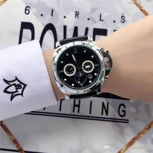 All Subdials Work Mens Automatic Leather Strap Quartz Calendar Wristwatches Luxury Designer Watch Business Men Watch Military watches