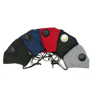 Máscara de respiração Válvula Unisex Rosto Algodão Máscaras PM2.5 Boca Máscara Máscara anti-poeira Reutilizáveis Fabric pode colocar filtro dentro face da tampa GGA3573
