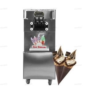 venta caliente comercial Taylor 3 sabores suave de hielo máquina de crema de yogur helado suave máquina de helados con plena refrigerante LLFA